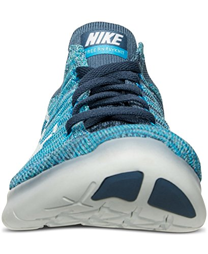 Nike Women's Free Running Motion Flyknit Shoes, Ocean Fog/White-blue Glow - 10 B(M) US
