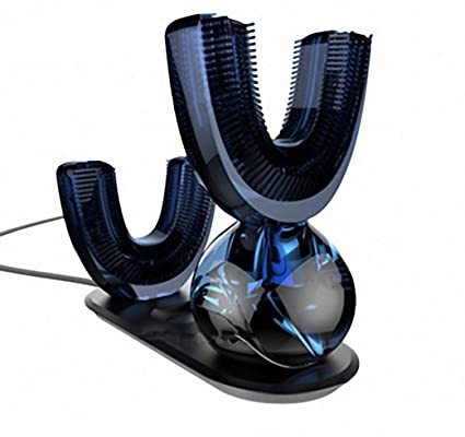 Cepillo de dientes eléctrico tipo U, ultrasónico, con luz fría, recargable, automático