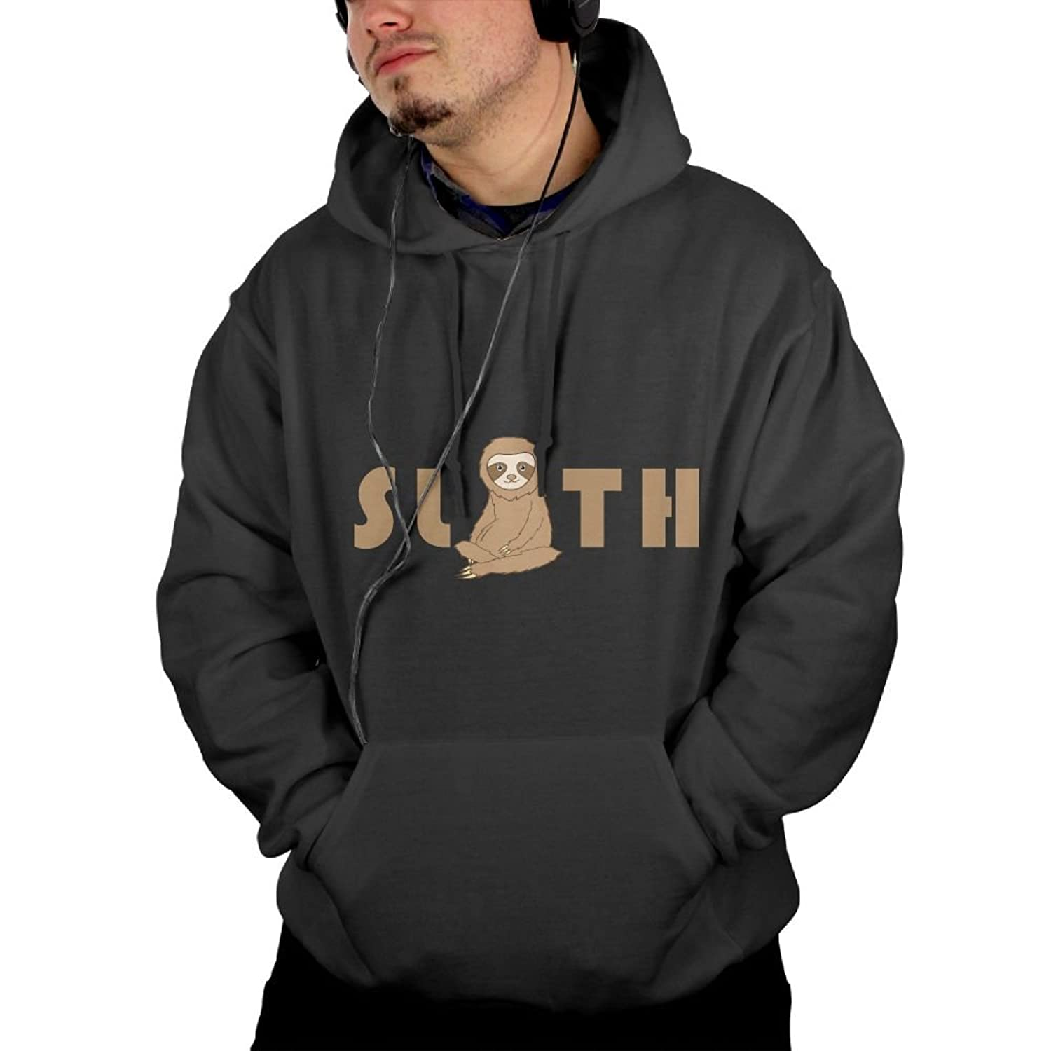 New Cute Cartoon Sloth Hooded Drawstring Sweatshirts Pullover Hoodies With Pockets For Men hot sale