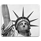 dealzEpic - Art Mousepad - Natural Rubber Mouse Pad Printed with Close up of Statue of Liberty in New York - Stitched Edges - 9.5x7.9 inches