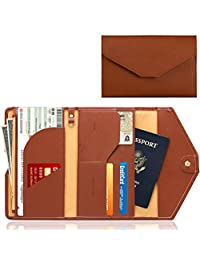 KINGMAS Rfid Blocking Travel Passport Trifold Wallet Passport Cover Holder