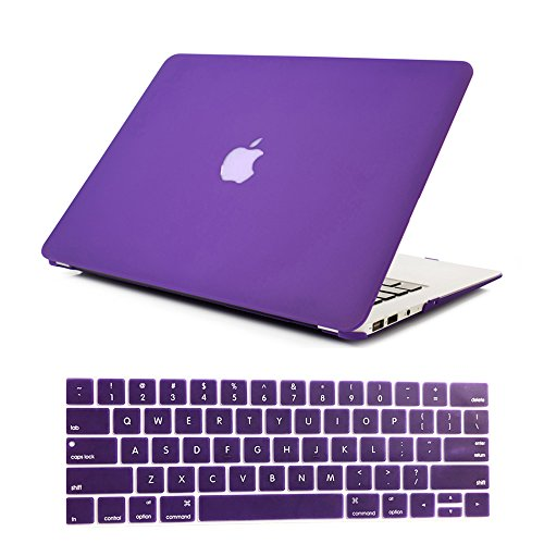 Se7enline 2016/2017/2018 MacBook Pro 13 Case Smooth Soft-Touch Matte Plastic Hard Cover for MacBook Pro 13 inch model A1706/A1708/A1989 with/without Touch Bar with Keyboard Cover Skin, Ultra Violet