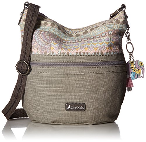 Canvas Bucket Bag - Sakroots Artist Circle Soft Bucket, Pastel One World