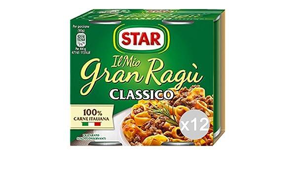 Set 12 STAR Salsa Salsa De Gran 180X2 Salsa De Carne Para La Pasta: Amazon.es: Alimentación y bebidas