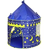 Princess Castle Play Tent with Glow in The Dark Stars, conveniently Folds in to a Carrying Case, Your Kids Will Enjoy This Foldable POP Up Blue Play Tent/House Toy for Indoor & Outdoor Use