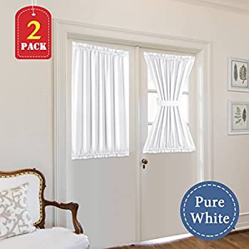Amazon Hrsailtex White Curtains French Door Panel Thermal