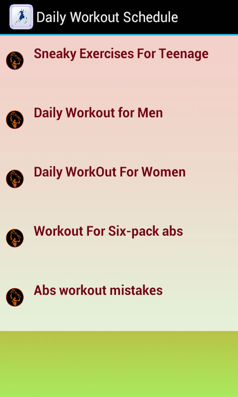 amazon com daily workout schedule appstore for android