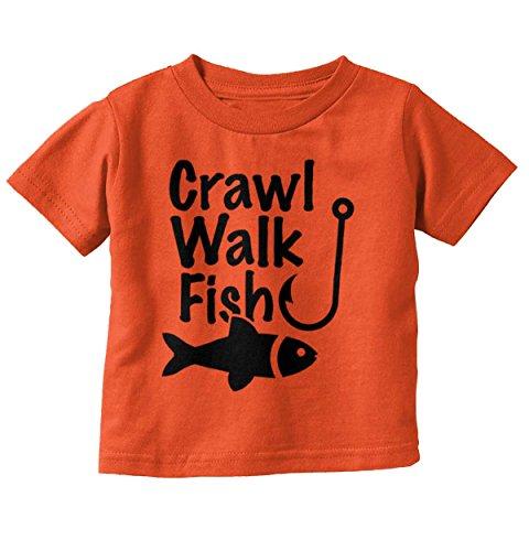 Crawl Walk Fish Funny Shirt Fishing Idea Bass Lure Toddler Infant T