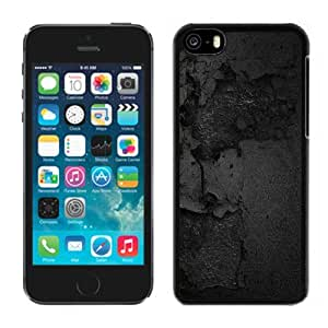 NEW Unique Custom Designed iPhone 5C Phone Case With Smashed Black Wall Texture_Black Phone Case