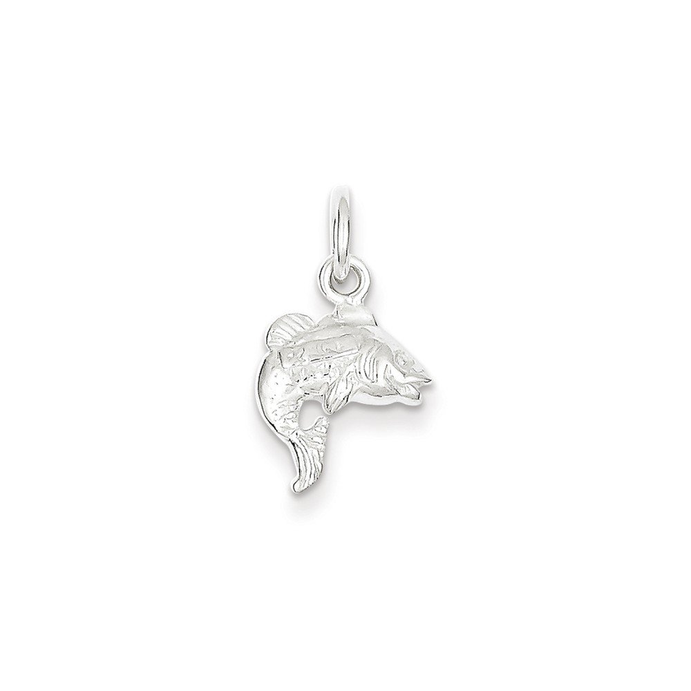 Mireval Sterling Silver Fish Charm on a Sterling Silver Chain Necklace 16-20