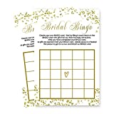Bridal Shower Bingo Game Card Set of 25 - Abstract Black and Gold