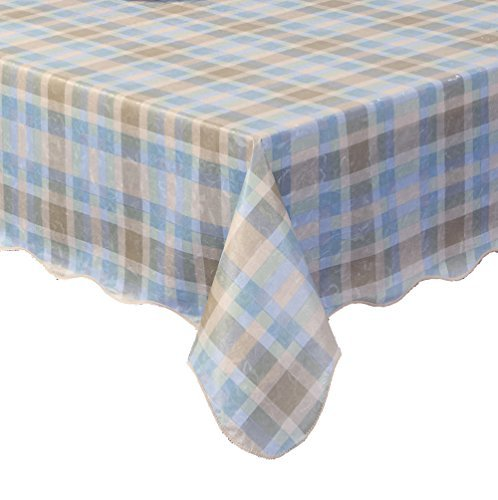 Ennas Cz005 Fitted Flannel Backed Vinyl Tablecloth Waterproof (54-Inch by 72-Inch oblong(rectangle)) -