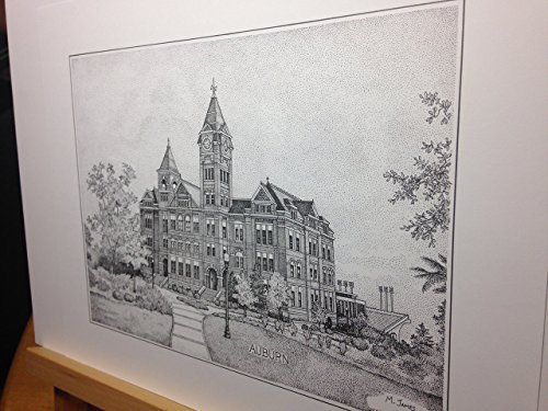 Auburn Samford Hall pen and ink 11''x14'' print by Campus Scenes (Image #7)