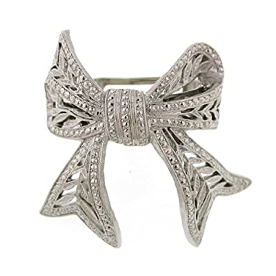 Cheap Vintage Inspired Silver Ponytail Bow Clip 7mCRrUeT
