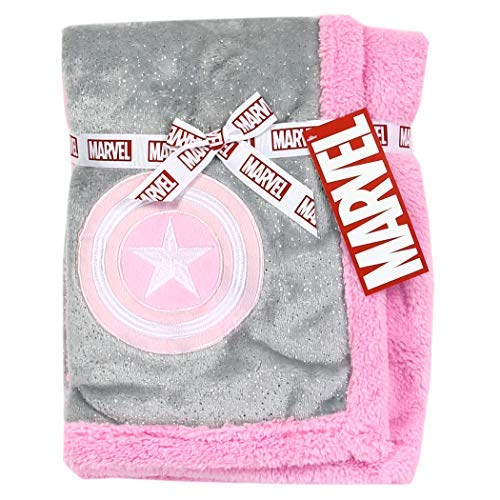 Baby Girl Marvel Clothes (Marvel Captain America Super Soft Fleece 30 inch x 30 inch Baby Blanket -)