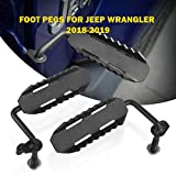 AUXMART Foot Pegs for 2018-2019 Jeep Wrangler JL Black - Pair- (C1 Style)