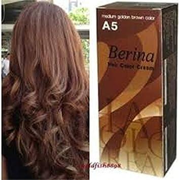 Amazon.com : Permanent Hair Dye Medium Golden Brown Color Cream ...