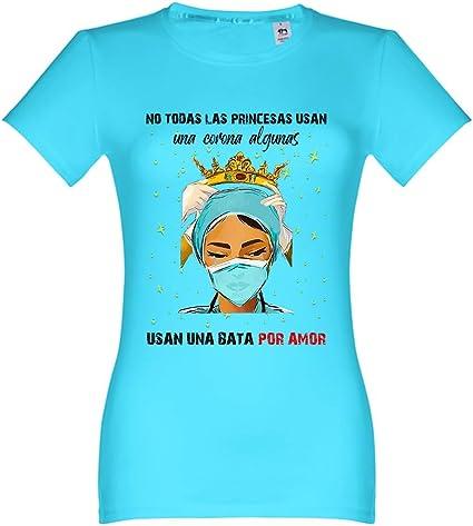 Oneroi Custom Camiseta Mujer Homenaje Enfermeras: Amazon.es: Ropa y accesorios