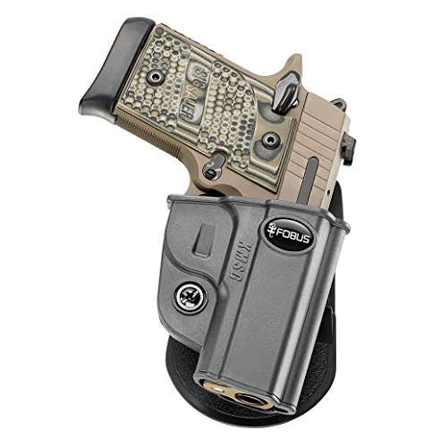 Fobus KMSG Paddle Black Conceal Concealed Carry Right Handed Holster Kimber Micro 9mm & .380cal