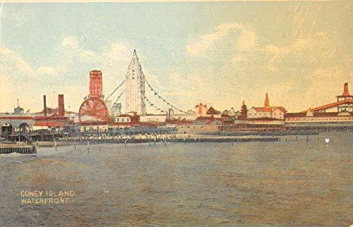 Coney Island New York Amusement Park Waterfront Antique Postcard K99776