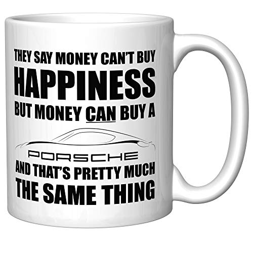 (Money Can't Buy Happiness (Porsche Cayman 981) Coffee Mug)