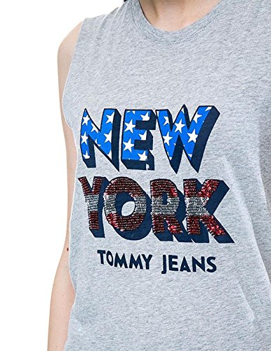 Grey Light Htr m Tommy Camiseta Hilfiger Sequins T wtzcIcHqF
