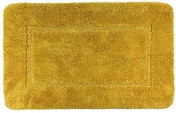 100/% Cotone Bicolore Ciniglia Anello Tappetino da Bagno Tappeto 50x80 cm in 4