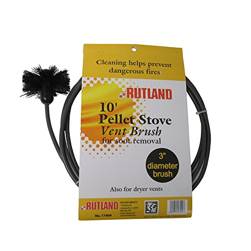 Rutland 3-Inch Pellet Stove/Dryer Vent Brush with 10-Feet Handle (Stove Rutland)
