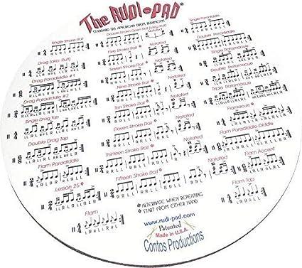 Rudi-Pad - Bloc de práctica para tambor con 26 rudimentos ...