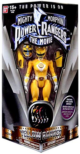 "Bandai Mighty Morphin Power Rangers The Movie Yellow Ranger 5"" Action Figure"