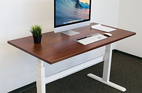 Mount-It! Table Top for Sit Stand Desk - 29 x 59 Inches - Nut Brown