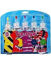 Essort Tie Dye Kit, Set di Colori per Tessuto Tessuto Tessile Pitture Tie Dye Kit Colori Vivaci Tessile Vernice Permanente con 20PCS Elastico e 4 Paia di Guanti in Vinile
