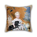 Beautifulseason 16 X 16 Inches / 40 By 40 Cm Oil Painting William Douglas - Portrait Of A Child Pillow Shams,two Sides Is Fit For Pub,club,bench,dinning Room,outdoor,kids Boys