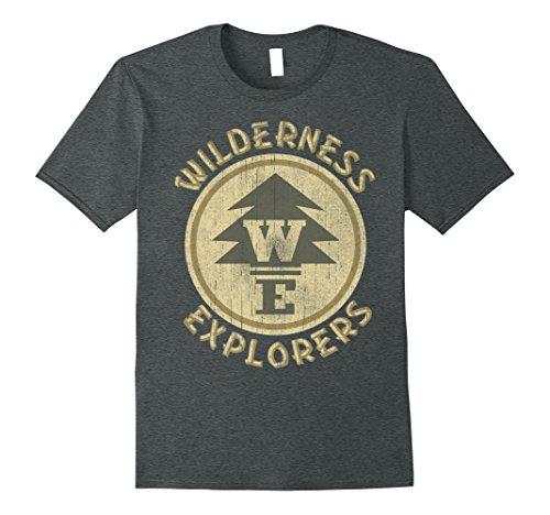 Explorer Mens (Mens Disney Up Wilderness Explorer Badge Graphic T-Shirt Large Dark Heather)