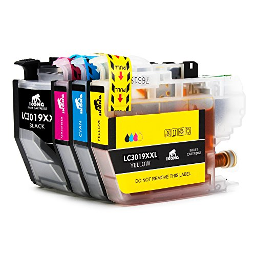 4-Pack IKONG LC3019 Compatible Ink Cartridge Replacement for Brother LC3019 XXL Works with Brother MFC-J6930DW MFC-J5330DW MFC-J6530DW MFC-J6730DW Printer