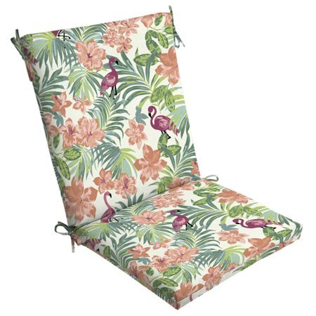 Arden Selections Luau Flamingo Tropical Outdoor Clean Finish Chair Cushion (Outdoor Cushions Arden)