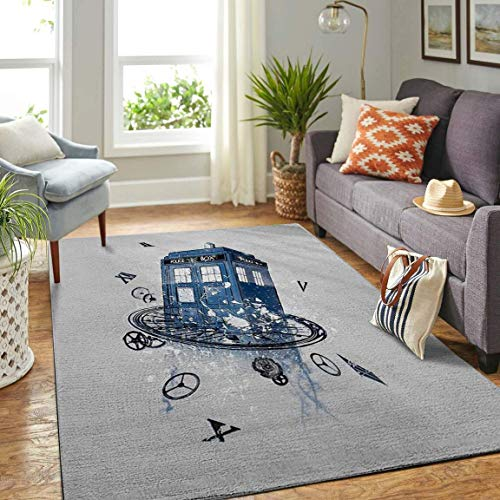 Doctor Who Area Rug Carpet, Decor Your Rooms Non Slip Play Area Rugs Runner Rug for Hallway Bathroom Outdoor Living Room…
