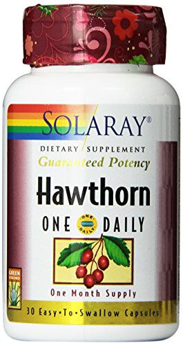 Solaray One Daily Hawthorn Extract Supplement, 600mg, 30 Count