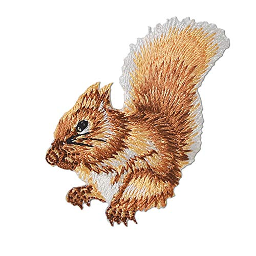XUNHUI Embroidered Squirrel Patch for Clothing Iron on Sew Applique for Jackets Jeans Patch for Clothes Bags Sticker Badge 1 Piece