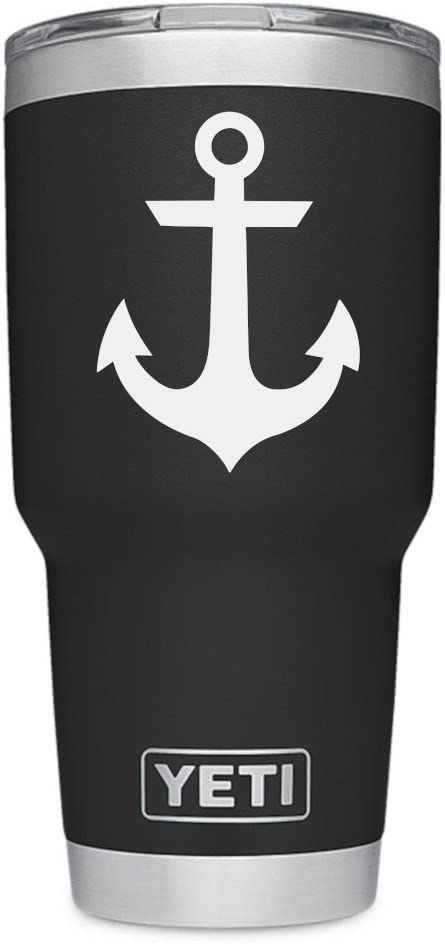 ViaVinyl Anchor Genuine Decal for Windows, Yeti and RTic Tumbler Cups, MacBook laptops, iPad Tablets, iPhone, Android and More!