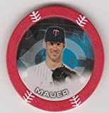 2014 Topps Poker Chipz Red Joe Mauer Minnesota Twins