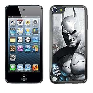 A-type Arte & diseño plástico duro Fundas Cover Cubre Hard Case Cover para Apple iPod Touch 5 (B & W Oscuro Murciélago Superhero)