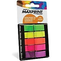 Marcador de Páginas Flags com 200 unidades 5 Cores Maxprint