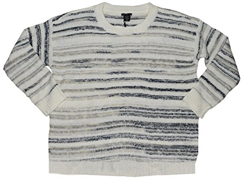 Calvin Klein Jeans Ladies' Marled Sweater (Marshmallow, Medium) ()