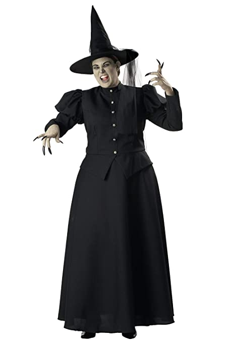 Make an Easy Victorian Costume Dress with a Skirt and Blouse InCharacter Wretched Witch Adult Costume- $76.74 AT vintagedancer.com
