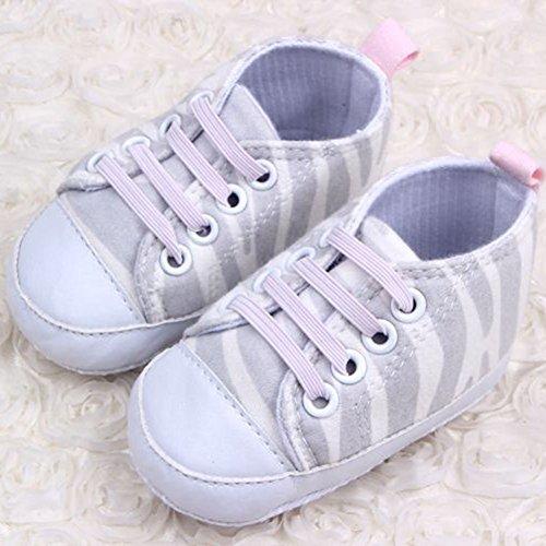 Weixinbuy Baby Toddler's Canvas Zebra Antislip Soft Sole Sneakers