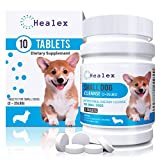 Healex 10 Tablets Small Dog (2-25lbs) Dewormer for Tapeworm, Roundworm, Whipworm, Hookworm,