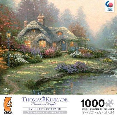 Thomas Kinkade 1000 Piece Jigsaw Puzzle Everett's Cottage -