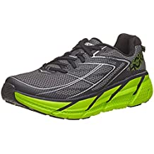 Hoka One One Clifton 3 Running Shoes, Blue Graphite/Bright Green, 7