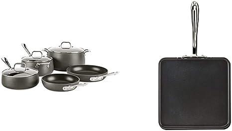 "All-Clad E7951364 HA1 Hard Anodized Nonstick Square Griddle Cookware 11/""  Black"